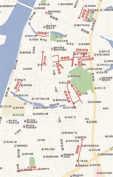 衢州城区9处路段拟改单行 下半年至明年分段实施