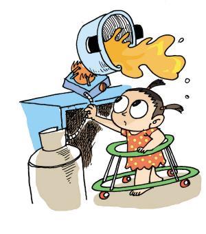 另外,应将家中的热水瓶,热水杯,饮水机等尽量放到孩子不易接触到的