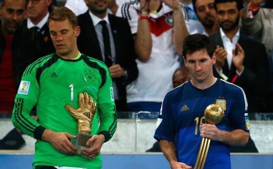 世界杯个人奖揭晓 梅西夺金球诺伊尔赢金手套