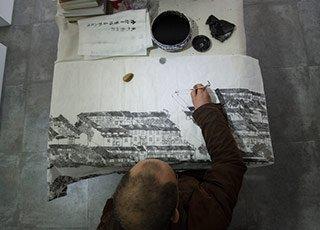 """""""画说""""杭州第一人: 30年专画运河"""