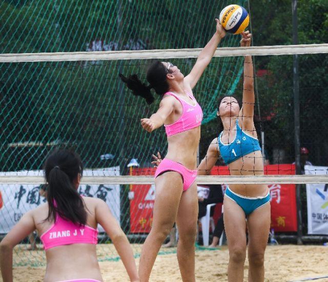 沙滩排球——全国青年U18锦标赛在浙江长兴开赛
