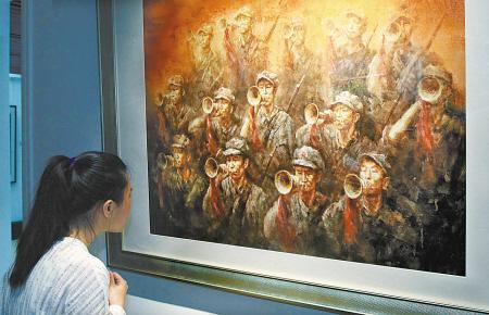 宁波举办纪念抗战胜利70周年专题美术 作品 展