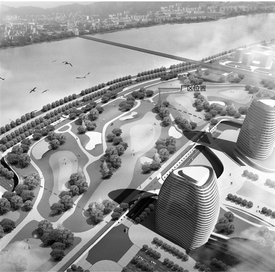 温州开建亚洲 大地埋式污水处理厂 地面建公园
