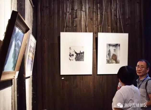 象外南林提笔浔溪 南浔水乡文化艺术作品展开幕