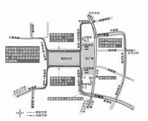 开车进出杭州东站还有很多人转晕 一张图告诉你