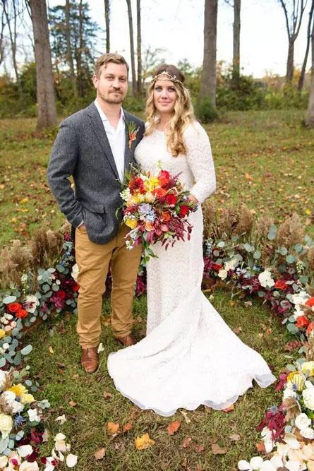 秋季婚礼的诗情