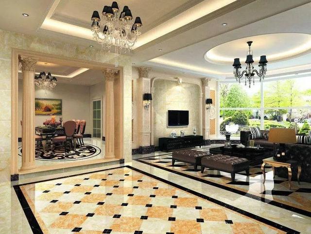 5类常规瓷砖铺设方式,你家客厅适合哪一种?