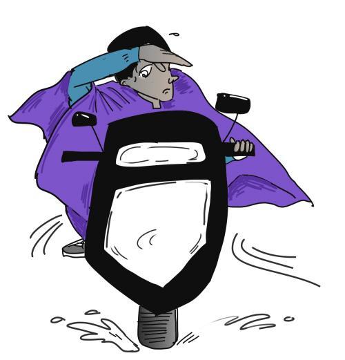 雨天摔跤卡通图片