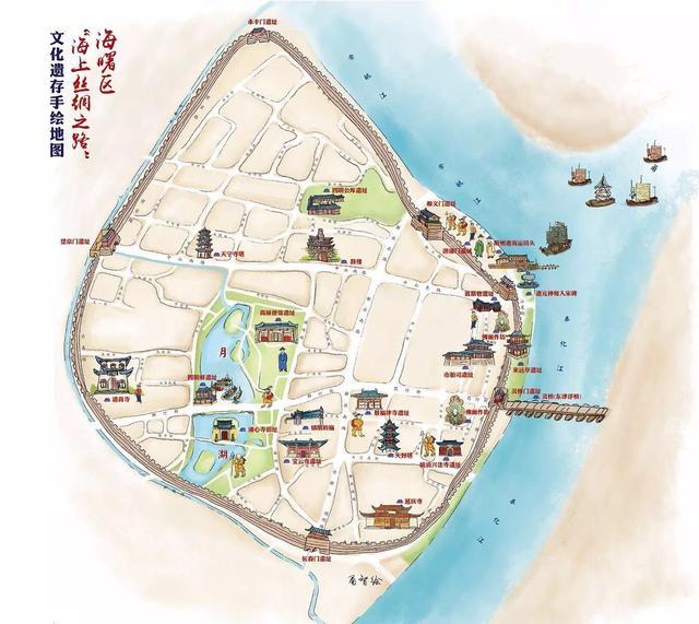 """宁波首份""""海上丝绸之路""""遗址手绘地图出炉"""