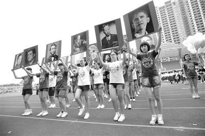 """奥运冠军助阵世界名校""""出场"""" 中学办创意运动会图片"""