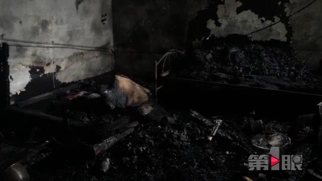 小孩一人在家 家当全被烧光只剩一套衣