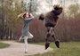 芭蕾女孩红遍俄罗斯 她的宠物狗成为最大亮点