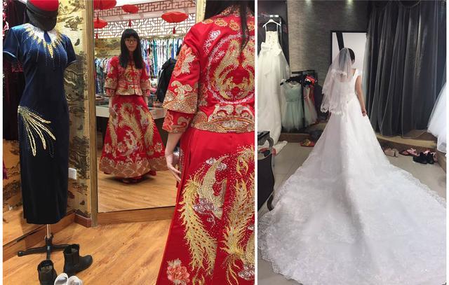 美女狂买1麻袋婚纱直夸便宜 婚纱团紧急加场