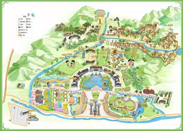 原乡小镇手绘地图