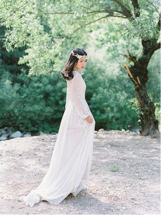 清新脱俗 温馨有度的胶片婚纱