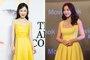 38岁霍思燕与柳岩同穿黄色吊带裙 网友:差别真大