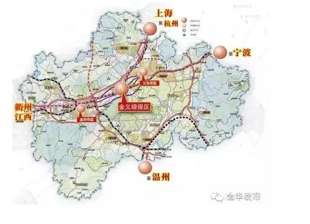 金华BRT 3 4 5 6号线规划图出炉图片