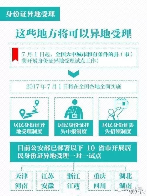 好消息!11省份新居民都能在嘉兴直接办理身份证