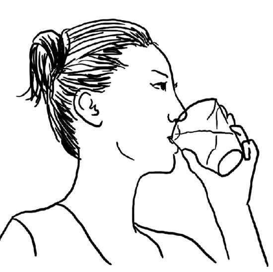 喝水简笔画-手机背景色换成绿色 真能保护眼睛图片
