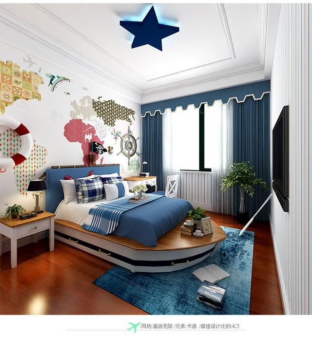 男孩卧室装修4大主题 小小梦想从这里长大