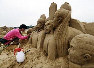 """舟山沙雕""""欢乐海洋""""渐露真容"""