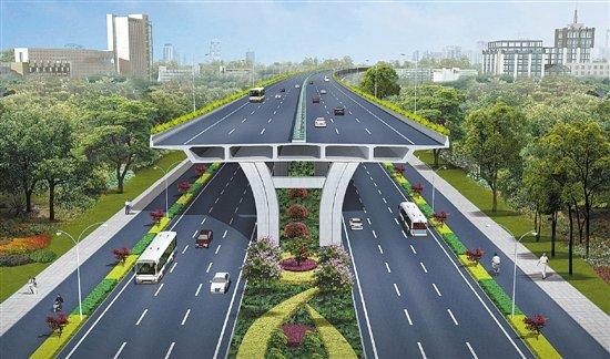 萧山机场公路的地面道路人行道将设置盲道和无障碍坡道,地面道路前期