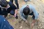 """东阳上卢小区发现马蹄形窑址 抢救性发掘正在进行""""width="""
