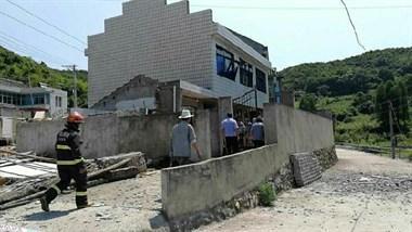 六横一民房发生爆炸:屋顶被炸飞 男子受伤就医