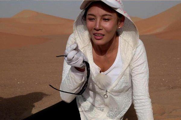 张蓝心在《前往世界的尽头》中经历沙漠翻车