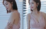 佟丽娅穿吊带裙罕见秀身材,天使面孔搭配魔鬼身段太迷人