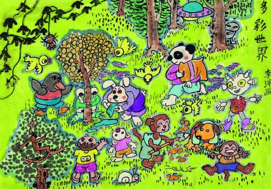 腾讯网大连站_中国儿童环保绘画大赛优秀作品:保护生物多样性_新闻_腾讯网