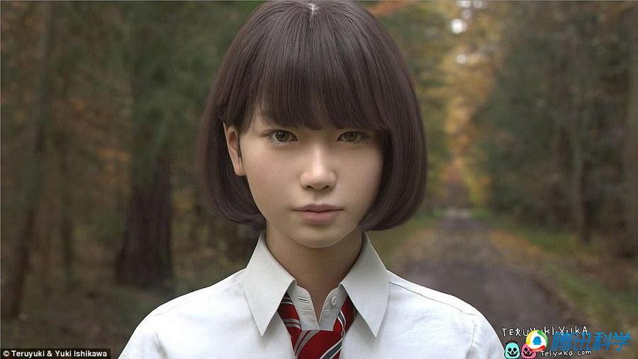 日本艺术家制作虚拟美少女 栩栩如生