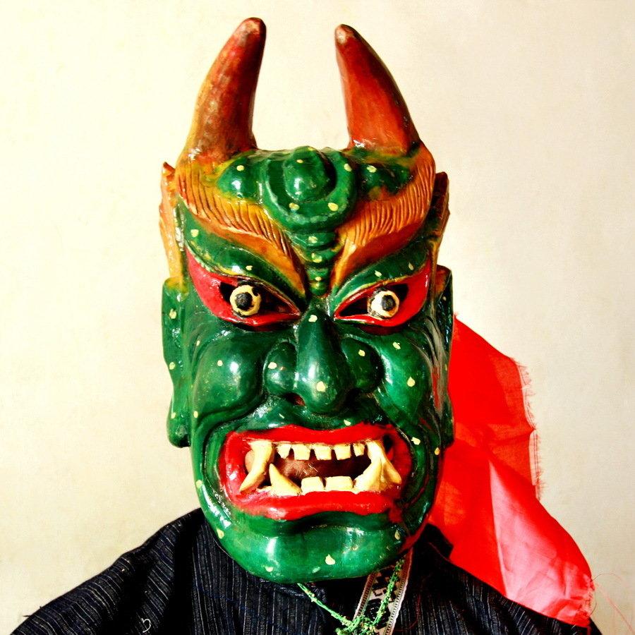 铜湘西收藏作品-傩面具(组7)-黄永明