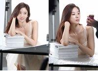 李清娥广告拍摄现场照曝光 透亮裸妆清秀迷人