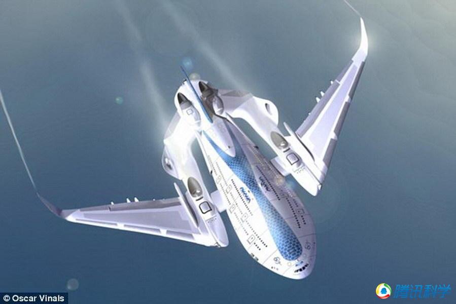 """工程师设计""""飞鲸""""概念飞机"""