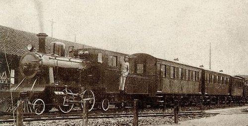 20年代照片_20年代浦东的轻便铁路,开始运行小火车