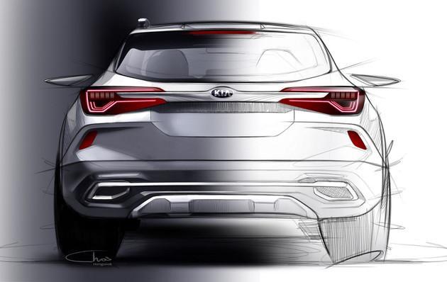 有望7月前亮相 起亚发布全新小型SUV设计图