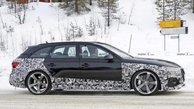 外观设计更新 新款奥迪RS 4 Avant谍照