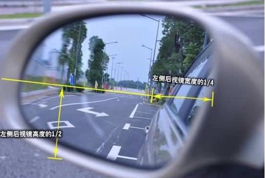 开车多年竟不知道 后视镜上竖着的线是这样用的