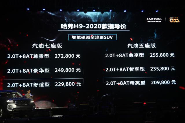 2020款哈弗H9购车手册 推荐四驱豪华型7座