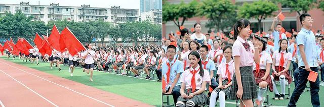 嘉美时光 飞翔之翼:成都七中嘉祥外国语学校创意开学典礼