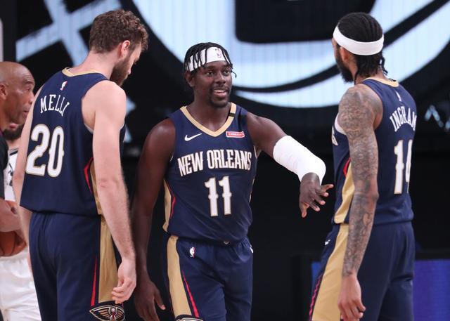 熱身賽!Zion未歸隊,Ingram僅打10分鐘高效拿下12分,鵜鶘大勝籃網31分!(影)-籃球圈