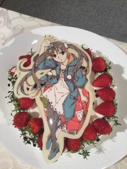 《物语》系列动画剧组庆功宴蛋糕就是艺术品!