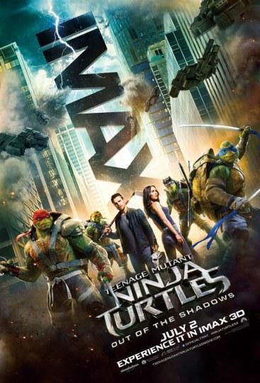 《忍者神龟2》发布IMAX专属海报 还有一周!