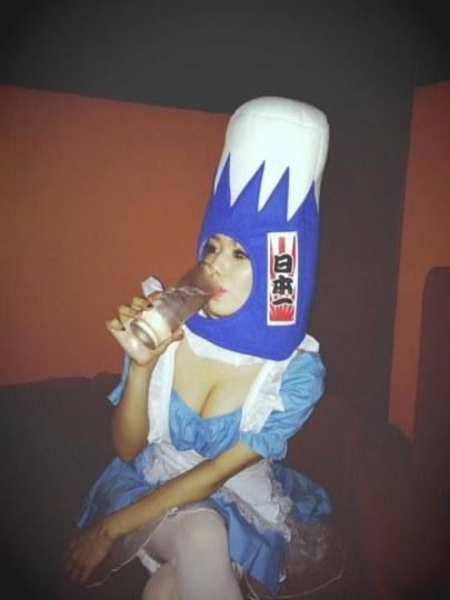 有沟必火!苍井空Cosplay富士山