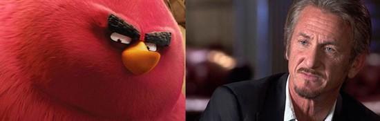 西恩潘献声《愤怒的小鸟》为大红鸟配音