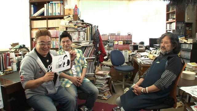 《妙厨老爹》作者上山�薪�在NHK节目秀厨艺