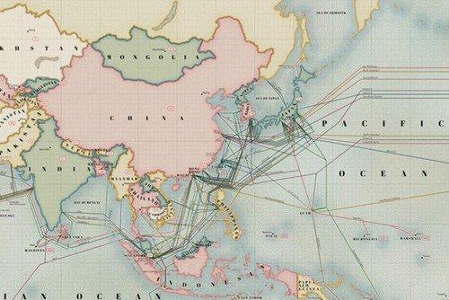 中国海底光缆分布�_连接世界2013全球海底光缆分布图发布_数码_腾讯网