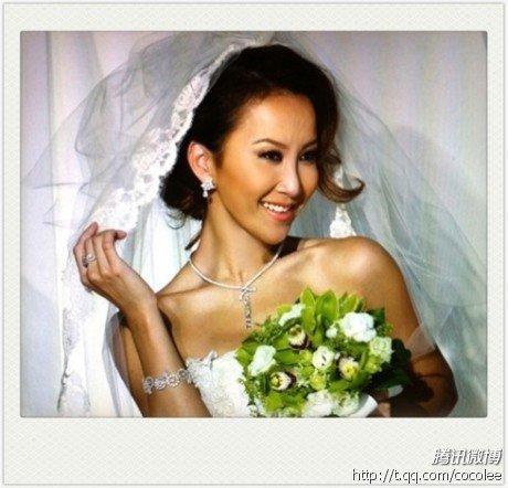 李玟微博_微讯:李玟公开着婚纱半身照 精致妆容倍显高贵_娱乐_腾讯网