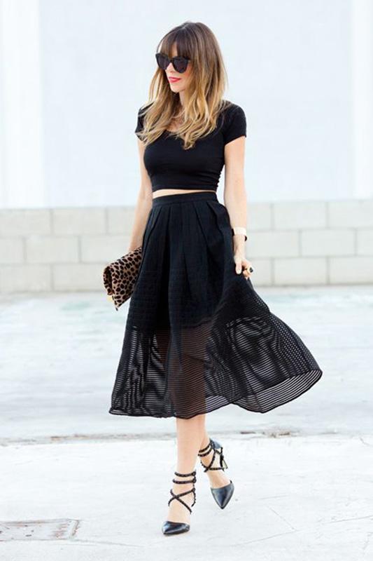 网纱裙搭配什么上衣_【黑纱裙搭配】黑纱裙搭配什么鞋,黑长裙纱裙配什么上衣_PClady
